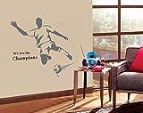 ufengke® Fußball-Spieler Schießen Wandsticker, Wohnzimmer Schlafzimmer Entfernbare Wandtattoos Wandbilder