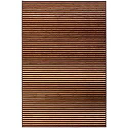 Alfombra de salón árabe marrón de bambú 200 x 300 cm