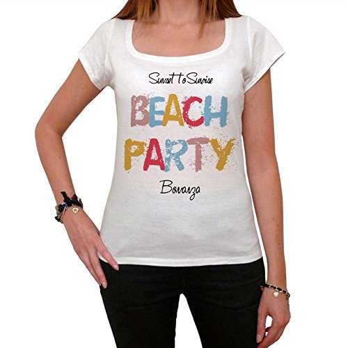 bonanza-beach-party-maglietta-donna-beach-party-maglietta-maglietta-regalo