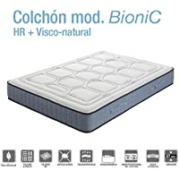 Homely Colchón BioNic de HR con Viscoelastica natural (135_x_180_cm)