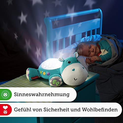 Fisher-Price CGN86 Schlummerlicht Spieluhr Nachtlicht mit Sternenlicht inkl. Melodien und White Noise, ab 0 Monaten, blau - 7
