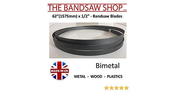 82 1//2 2096mm 13mm x 1//2 Bimetal Bandsaw Blades 6-10 14-6//10-8//12-10//14 TPI 6//10 Tpi 82 1//2 x 1//2