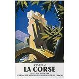 Editions Clouet 50616 - Affiche Touristique 50x70 cm SNCF - Village perché en Corse