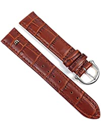 Maurice Lacroix Louisiana look Replacement Band Watch Band Leather Kalf brown 21608S, width:20mm