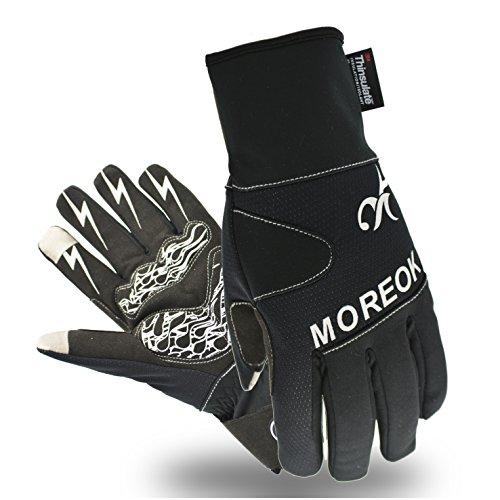 Touchscreen Handschuhe Winter Fahrradhandschuhe Mit 3M Thinsulate ™ Insulation Warmes Material,Warm Winddicht ,wasserdicht Skihandschuhe Winterhandschuhe für Ski,Motorrad,Fahrradfahren, Reiten, USW. (XL, 3M-Schwarz)