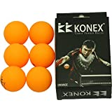 Konex 40mm+ Synthetic Table Tennis Balls, Set Of 6 Balls, White.