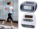 #7: Solar Power Calorie Consumption Run Step Pedometer Distance Counter with LCD Screen-White