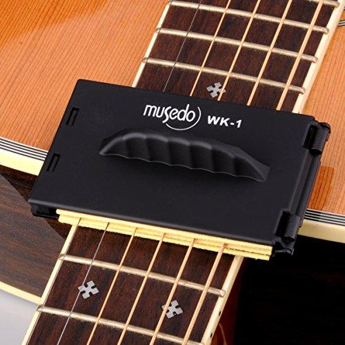Saitenreiniger Gitarre, 360 Grad Reinigungsfunktion Reiniger für Saiten Gitarren Bass Saiten Griffbrett und Körperreiniger plastic black, by LC Prime