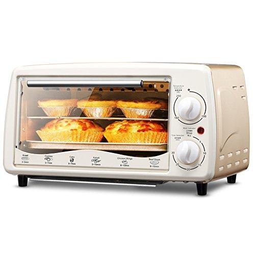 DULPLAY Four grille-pain,Meilleure convection,Mini,Capacité de 12l,Repas numérique,Comprend le rôtissage,Four de comptoir Noir Numérique Acier inox poli Toast Accueil Cuisine -A 35x20x22cm(14x8x9inch)