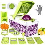 Vegetable Chopper, ONSON Food Chopper Cutter Onion Slicer Dicer, 10 in 1 Veggie