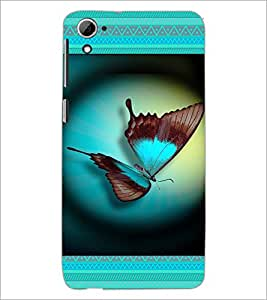 PrintDhaba Butterfly D-4644 Back Case Cover for HTC DESIRE 826 (Multi-Coloured)