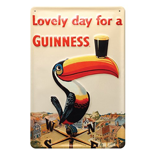 guinness-metal-sign-with-iconic-toucan-on-a-weathervane-20cm-x-30cm