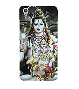 Vizagbeats shiva and ganesh Back Case Cover for Lava Pixel V1