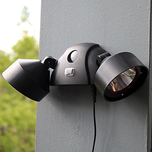WW Outdoor-StraßEnlaternen Doppelscheinwerfer Menschlichen Sensor Rasen Lichter Gartentreppe Lichter LED Wandleuchte , Black
