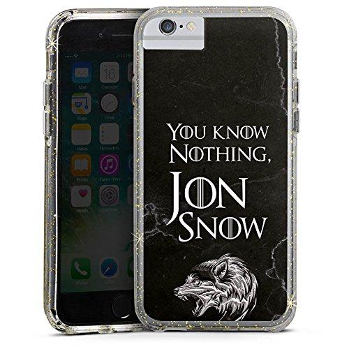 Apple iPhone X Bumper Hülle Bumper Case Glitzer Hülle Jon Snow Got Game Of Thrones Bumper Case Glitzer gold