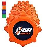 Extreme Foam Roller – Extrem dichte Premium Muskel Faszienrolle fördert Muskelfaser- und Triggerpunktmassage (Blutorange)
