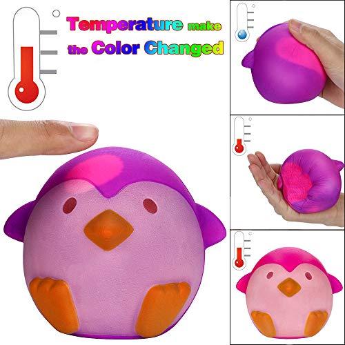 TianranRT Temperatur Farbe Veränderung Squishies Pinguin Langsam Steigen Duftend Linderung Stress