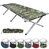 Feldbett HOLIDAY LITE 200 x 70 x 45 cm Gästebett aus Aluminium Camping-Bett in vielen Farben, Farbe:military