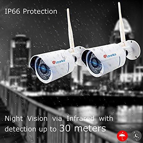 Ctronics überwachungskamera Bullet Wlan IP Outdoor Kamera HD 720p 30m Ir 3.6mm Objektiv ONVIF SD-Kartensteckplatz - 6