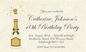 Fermeture magnétique de 50 cartons d'invitation Motif Mini cartes d'invitation pour les Invitations d'anniversaire avec enveloppes pour adulte