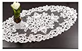 Plauener Spitze Wickeldecke Spitzendecke Tischläufer weiß 40 x 80 cm 100% Baumwolle