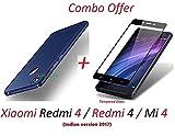 #8: YuniKase Mi redmi 4 / Xiaomi Redmi 4 / Redmi 4 / Mi 4 / Redmi4 / Mi4 (COMBO OFFER) All Sides Protection