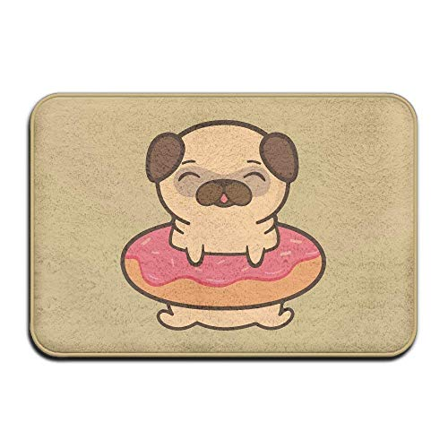 Non Slip Door Mat Outdoor,Decorative Garden Office Bathroom Door Mat with Non Slip, Entry Way Door Mat Rug with Non Slip Backing Cute Adorable Doughnut Pug Indoor Fußabtreter for Kitchen,Bath,Pet (Raben-fußmatten)