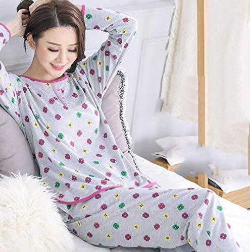 Marcus R Caveggf Damen Pyjama GroßE GrößE Loungewear Set Lange ÄRmel Floral Top Baumwolle NachtwäSche Verschiedene GrößEn, l - Charmeuse Cami Top