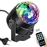 Leoker Discolicht Partylicht Discokugel LED Disco Lichteffekte Partybeleuchtung RGB Musikgesteuert...