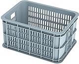 Basil Crate S Fahrradkasten, Grey, 40 x 30 x 21 cm
