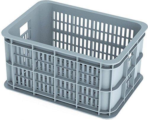 Basil Crate S Fahrradkasten Grey 40 x 30 x 21 cm