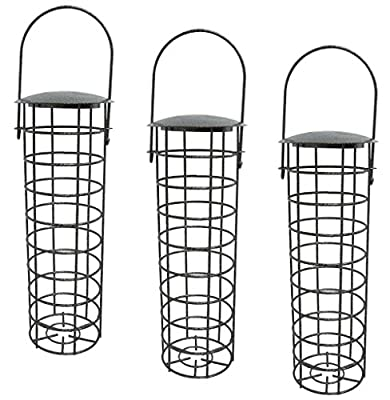 "3 x 10550 Deluxe Heritage Wild Bird Hanging Fat Ball Feeder Garden Suet Ball Feeders 10"" by Heritage Pet Products"