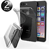 Ganvol Apple iPhone 7 Plus Funda (2 Pack), Shock- Absorción Bumper Carcasa, Clear Case Cover Suave Flexible Extremadamente Delgada piel Transparente, NO es compatible con Honor V8