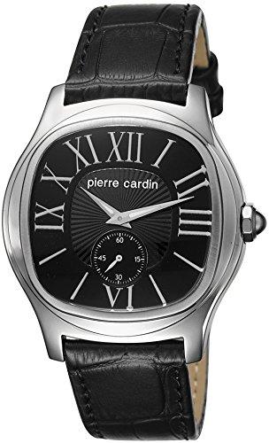 Pierre Cardin hombre-reloj analógico de cuarzo Duc de cuero PC104131F01
