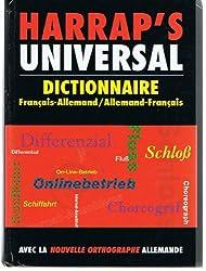 Harrap's Universal : Allemand/français, français/allemand