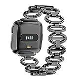 YUYOUG_watch strap yuyoug Edelstahl Gans Ei-Stil Kette Stil Armband Smart Watch Band Metall Armband Ersatz Sport Band f�
