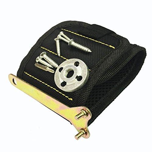 JTENG Magnetische Armbänder, Magnetarmband mit 10 leistungsstarken Magneten Magnet Armbänder verstellbares Klettband zum Halten von Werkzeugen, Schrauben, Nägel, Bohren Bits und Kleinwerkzeuge - 4