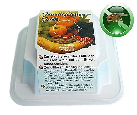 BIOLOCK® Fruchtfliegenfalle - Falle mit giftfreiem und natürlichem Flüssigköder