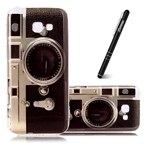 Galaxy A5 2017 TPU von Slynmax TPU Case Transparente Schutzhülle für Samsung Galaxy A5 2017 Hülle Silikon Weich Soft Case Handyhülle Gel Flex Cover Stoßfest Durchsichtige Silikonhülle - Kamera