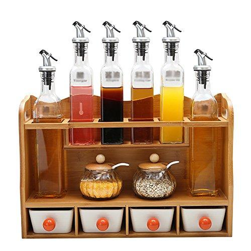 YA Werkzeughalter Spice Box Set Glas Spice Jar Kreative Küche Spice Jar Keramik Spice Box Salz Jar Öl Essig Flasche Haltbar