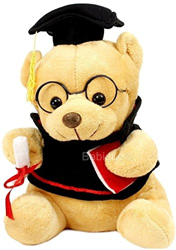 Richy Toys Teddy Bear Soft Toys Graduate Musical Stuffed for Kids Birthday Gift , Brown 20Cm