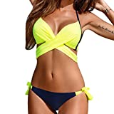 KIMODO Damen Bikinis Bikini-Sets Bademode Push-up gepolsterter BH Badeanzug Bikinioberteil Mode 2019