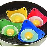 Escalfador de huevos (4unidades) resistente al calor Extra silicona pochadores de huevo moldes para cocinar perfecto poached egg por Millya