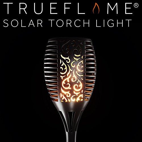 TrueFlame Gartenfackel, Solarlampe, für den Außenbereich, Garten, flackernd
