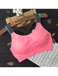 ny Sostén Deportivo Sección Delgada No Reúna Chaleco De Acero Corriendo Choque Fitness Yoga Ropa Interior ( Color : Pink , Tamaño : L )