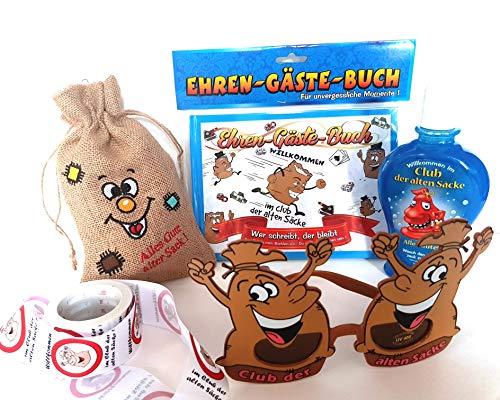 Hobby Welt Bastelset 3 teiliges Geschenk Set Alter Sack, für lustige Geburtstagsparys (5-teilig)