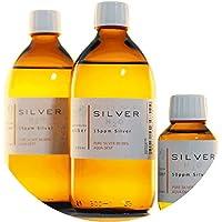 Preisvergleich für PureSilverH2O 1100ml kolloidales Silber (2x 500ml/15ppm) + Flasche (100ml/50ppm) Reinheit & Qualität seit 2012