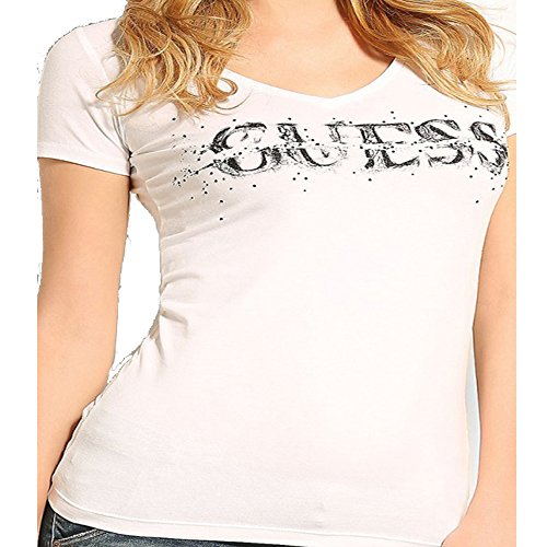 t-shirt-guess-bullet-stretch-jersey-blanc-s-blanc