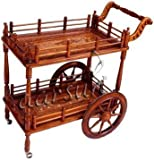 Aarsun Woods Handcrafted Wooden Service/ Bar Trolley