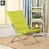 QIQI Klappstuhl,Lunch Break Stuhl Faul Nap Stuhl tragbares Multifunktions Haushalt Lounge Bürostuhl-C 63x118cm(25x46inch)